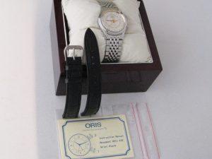 Uhren-Steindl-Oris-Wrist-Alarm-Wecker-Vintage-Handaufzug-Edelstahlarmband-Beschreibung-1989-1990-Sammler-Bild-6